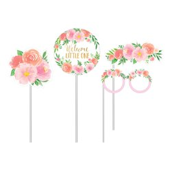 Floral Baby Photo Booth Props