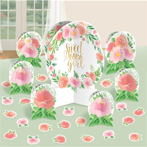 Floral Baby Table Decorating Kit