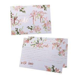Floral Hen Party Bride To Be Advice Cards