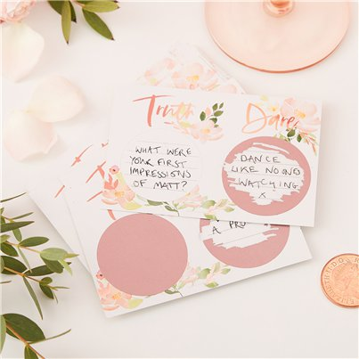 Floral Hen Party Truth Or Dare Scratch Game