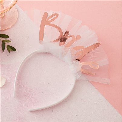 Floral Hen Party 'Bride' Headband