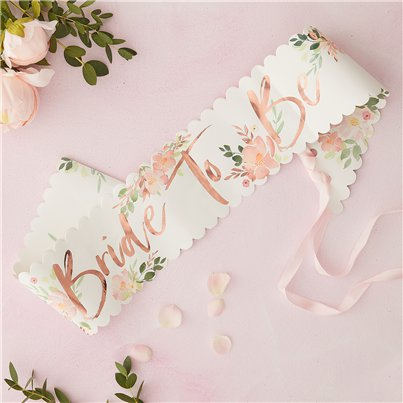 Floral Hen Party Bride To Be Sash