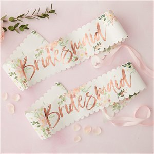 Floral Hen Party 'Bridesmaid' Sashes