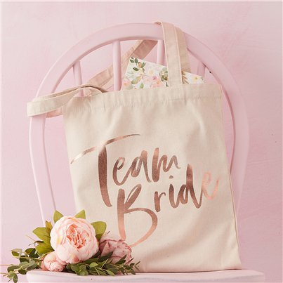 Floral Hen Party 'Team Bride' Tote Bag
