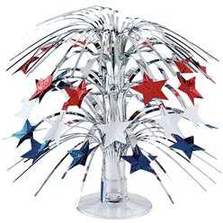 Red, White & Blue Star Mini Cascade Centrepiece - 22cm