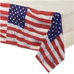 USA American Flag Paper Tablecover - 1.4m x 2.6m