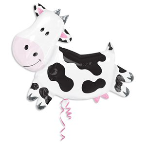 Giant Cow SuperShape Birthday Balloon - 30