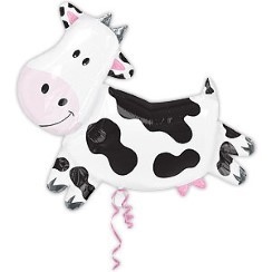 "Giant Cow Supershape Birthday Balloon - 30"" Foil"