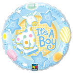 "It's a Boy Soft Giraffe Balloon - 18"" Foil"