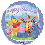 "Winnie the Pooh 1st Birthday Deflated Balloon - 18"" Foil"