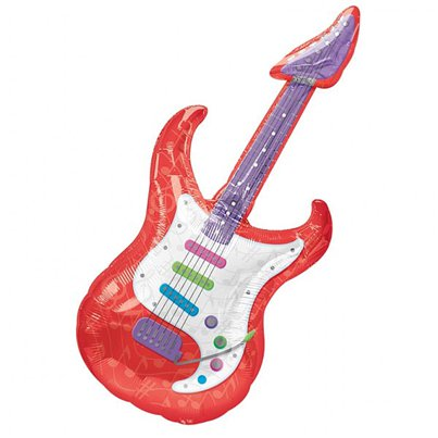 "Guitar Supershape Giant Balloon - 41"" Foil"