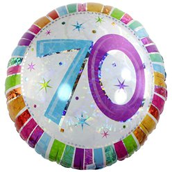 "70th Birthday Radiant Round Balloon - 18"" Foil"