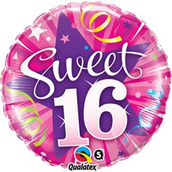 "Sweet 16 Shining Star Birthday Balloon - 18"" Foil"
