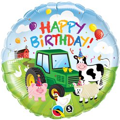 "Happy Birthday Barnyard Balloon - 18"" Foil"