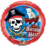"Happy Birthday Mate Pirate Ship Balloon - 18"" Foil"