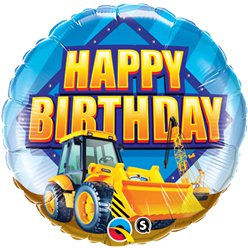 "Happy Birthday Construction Zone Balloon - 18"" Foil"