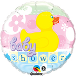 "Rubber Duckie Baby Shower Round Balloon - 18"" Foil"
