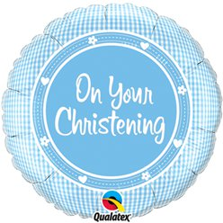 "On Your Christening Baby Boy Balloon - 18"" Foil"