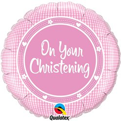"On Your Christening Baby Girl Balloon - 18"" Foil"
