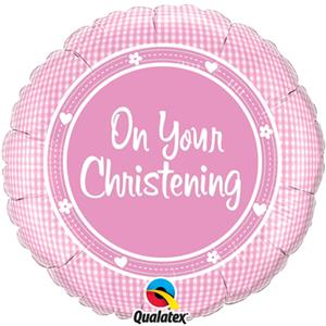 On Your Christening Baby Girl Balloon - 18