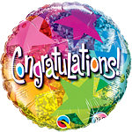 "Congratulations! Star Patterns Balloon - 18"" Foil"