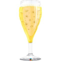"Bubbly Wine Glass Supershape Balloon - 39"" Foil"