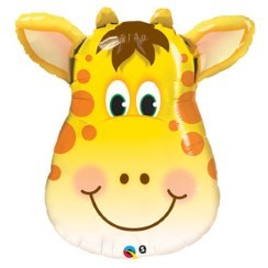 "Birthday Jolly Giraffe Supershape Balloon - 32"" Foil"