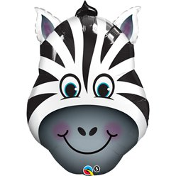 "Birthday Zany Zebra Supershape Balloon - 32"" Foil"