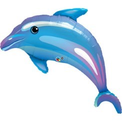 "Delightful Dolphin Supershape Balloon - 42"" Foil"