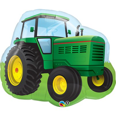 "Birthday Farm Tractor Supershape Balloon - 34"" Foil"