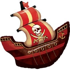 "Birthday Pirate Ship Supershape Balloon - 40"" Foil"