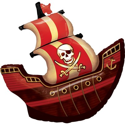 Birthday Pirate Ship Supershape Balloon - 40