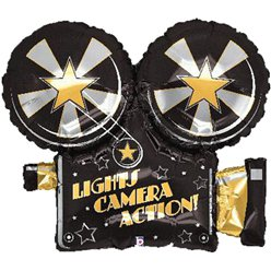 "Movie Camera Shaped Supersize Balloon - 32"" Foil"