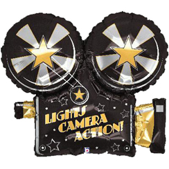 "Movie Camera Shaped Large Balloon - 32"" Foil"