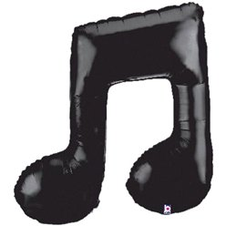 "Musical Note Shaped Supersize Balloon - 40"" Foil"