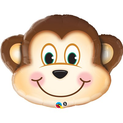 "Mischievous Monkey Supershape Large Balloon - 35"" Foil"