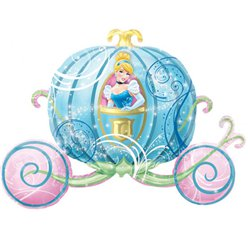 "Cinderella Carriage Supershape Balloon - 33"" Foil"