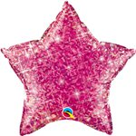"Holographic Jewel Magenta Star Shaped Balloon - 20"" Foil"