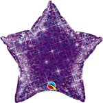 "Holographic Jewel Purple Star Shaped Balloon - 20"" Foil"