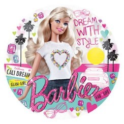 "See Through Barbie Birthday Balloon - 26"" Foil"