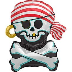 "Jolly Roger Balloon - 29"" Foil"