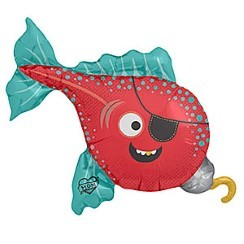 "Pirate Fish Balloon - 43"" Foil"