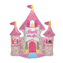 "Happy Ever After Castle Balloon - 36"" Foil"