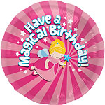 "Magical Birthday Round Balloon - 18"" Foil"