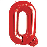 "Red Letter Q Balloon - 34"" Foil"