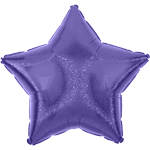 "Purple Dazzler Star Balloon - 19"" Foil"