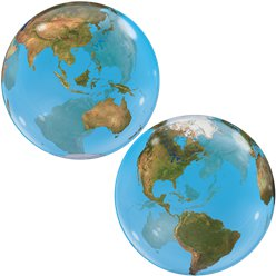 Planet Earth Design Bubble Balloon - 22""