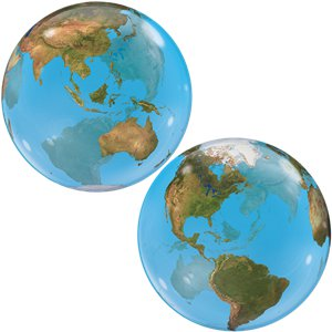 Planet Earth Design Bubble Balloon - 22