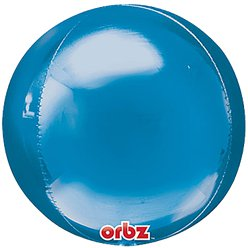 "Blue Birthday Orbz Balloon - 16""-18"" Foil"