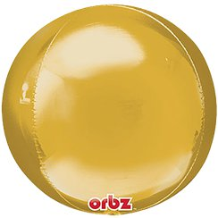"Gold Birthday Orbz Balloon - 16""-18"" Foil"